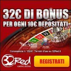 Bonus 32Red Casino