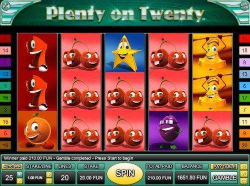 Plenty on Twenty Slot Machine