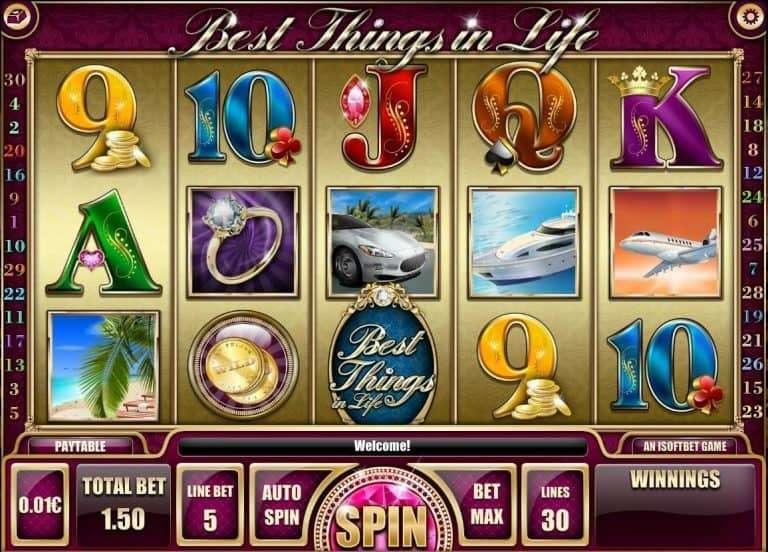 Best Things in Life Slot Machine