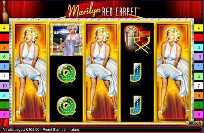 Marilyn Red Carpet Slot Machine