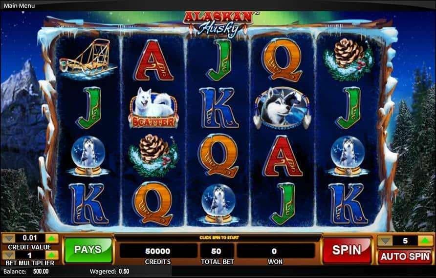 Alaskan Husky Slot Machine