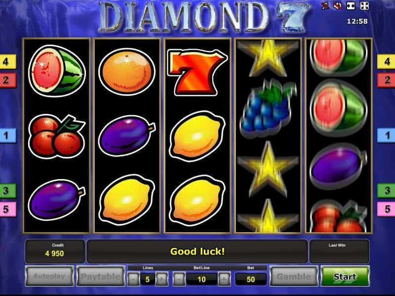 Diamond 7's Slot Machine
