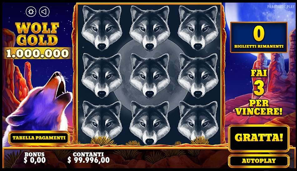 Scratchcard Wolf Gold