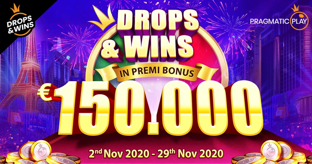 Drops&Wins arriva in Italia, una promozione per giocare alle slot machine di Pragmatic Play